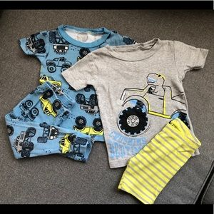 Carters Just For You Trucks Pijama Set Size 18M